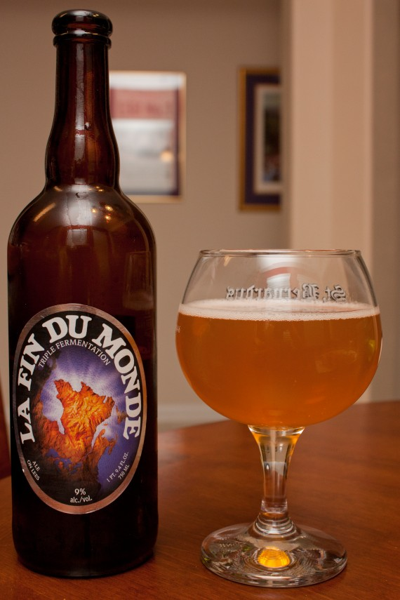unibroue la fin du monde beers and ears. Black Bedroom Furniture Sets. Home Design Ideas
