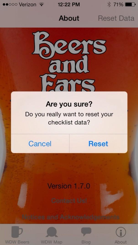 WDW Beer List Reset Data
