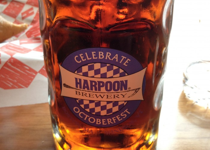 A liter of Harpoon's finest ale